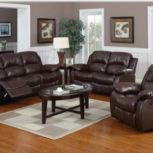 6 Seater Recliner Sofa Set (Pure Leather)