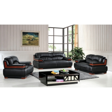 Quality Black Leather Sofa Set