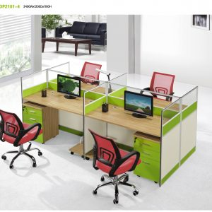Dp 4-Way Office Partition With Glass
