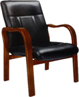 Low Back Chair With Wooden Arms