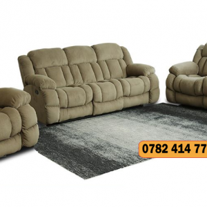Oceanic 6 Seater Recliner Sofa - Mocha