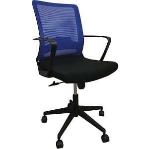 Midback Office Chair With Blue Back