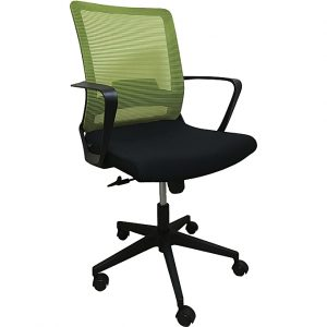 Midback Office Chair with Green Back