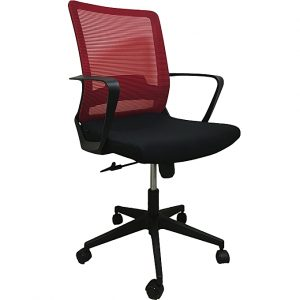 Midback Office Chair with Red Back