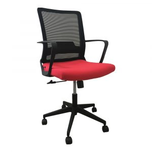 Office Chair with Red Back