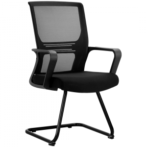 Visitor Waiting Chair In Black