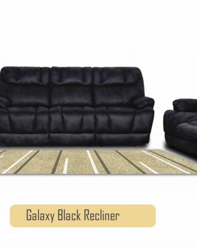 Galaxy Seater Recliner Sofa Set - Black