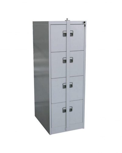 4 DRAWER STEEL FILING CABINET WITH SECURITY BAR