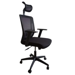 High Back Fabric Office Chair With Mesh Back