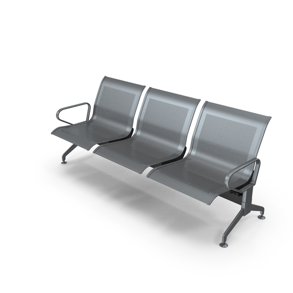 Unpadded Airport Linked Chair