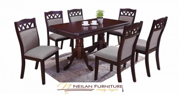 Atlas Dining Set - 6 Seater
