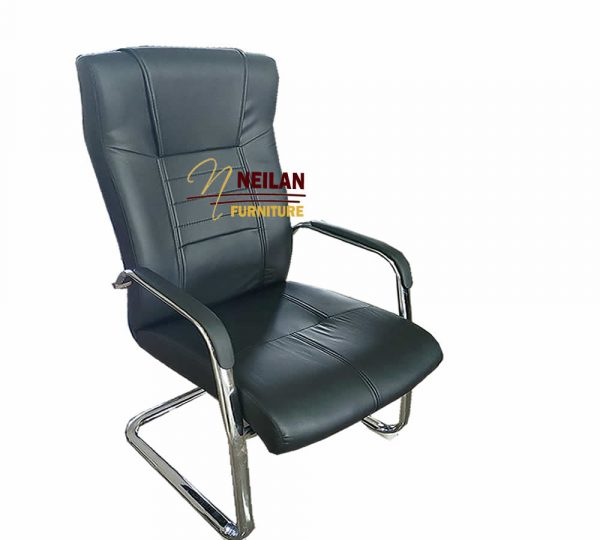 High Back Leather Visitor'S Chair