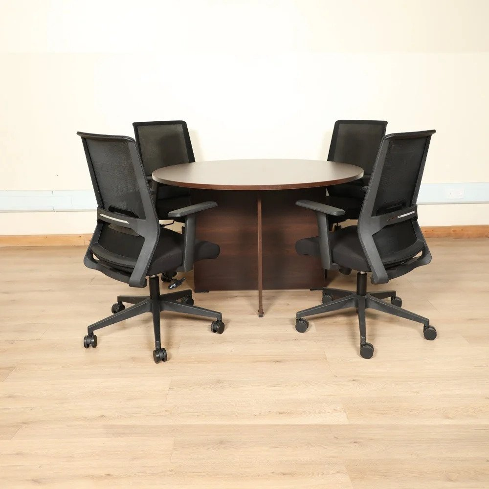 Round Conference Table - Wallnut
